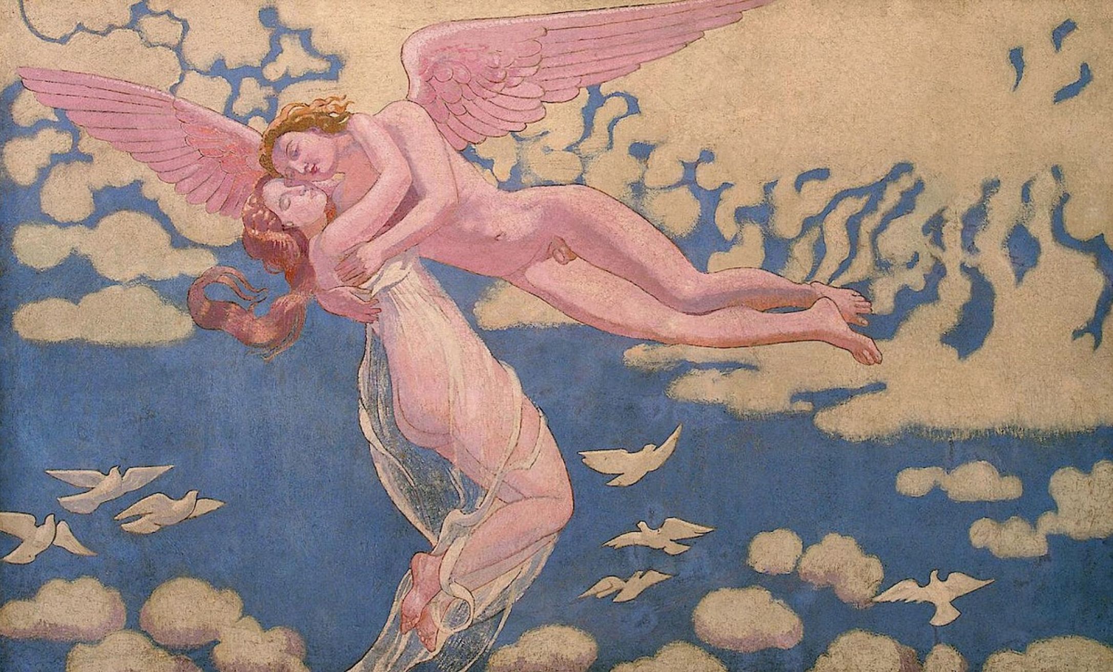 Maurice Denis - Cupid Carrying Psyche Up to Heaven (1908)