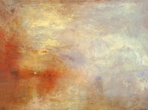 'Sunsetting over a lake - J.M.W. Turner (c.1840)