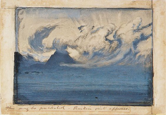 July Thundercloud in the Val d'Aosta- John Ruskin (1858)