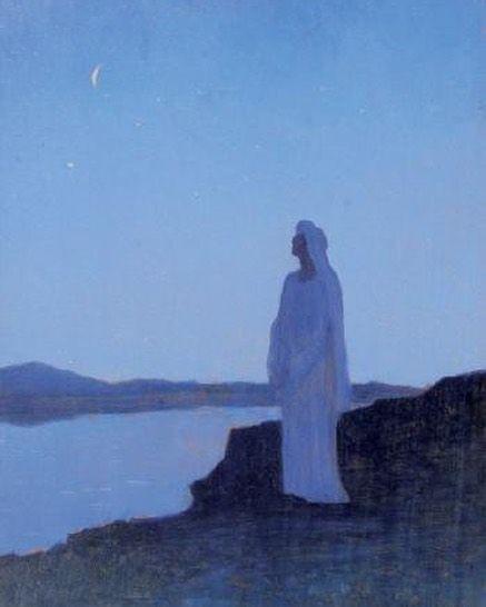 'Rêverie en la nuit' - Alphonse Osbert (1895)