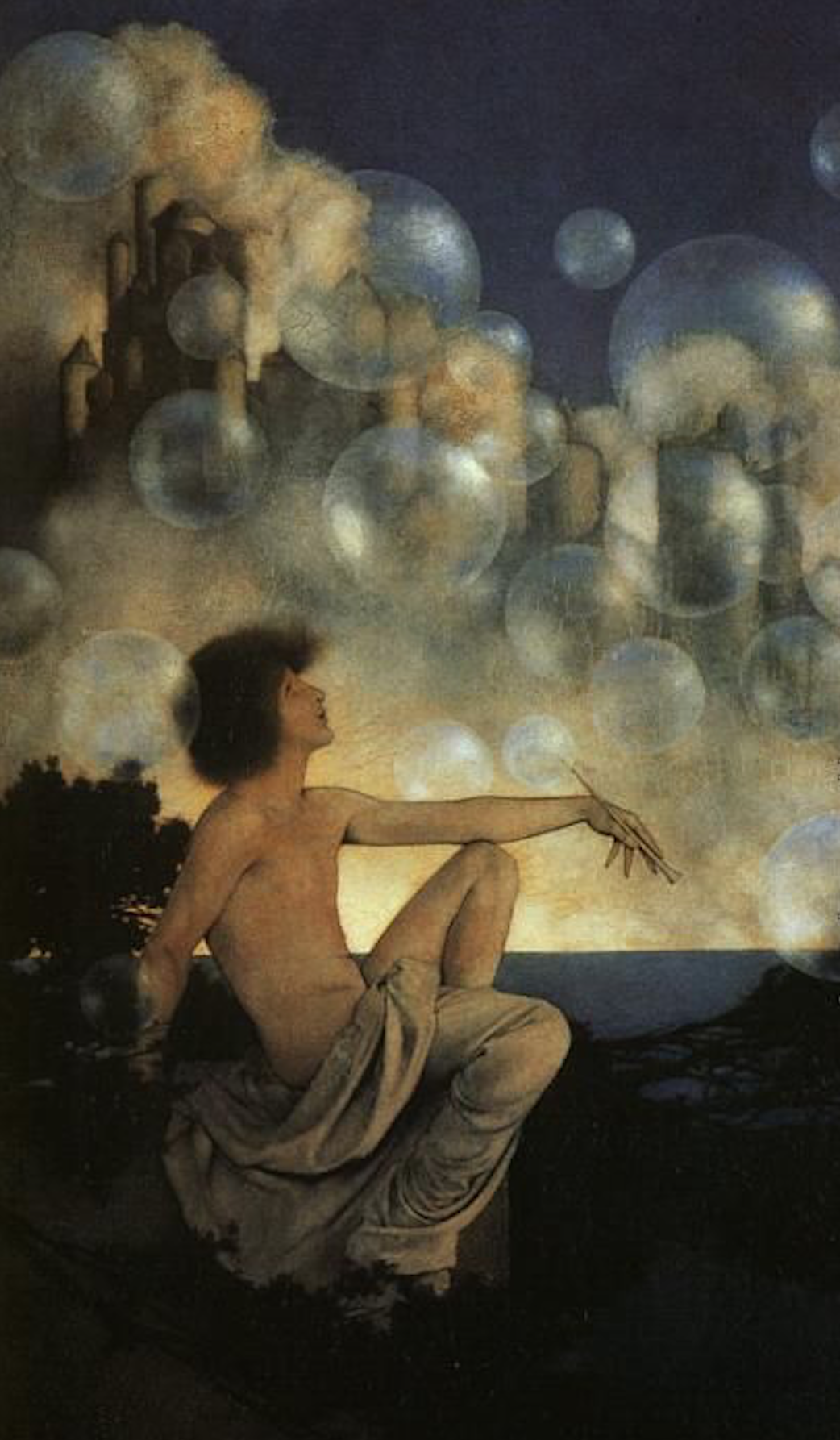 'Air Castles' - Maxfield Parrish (1904)