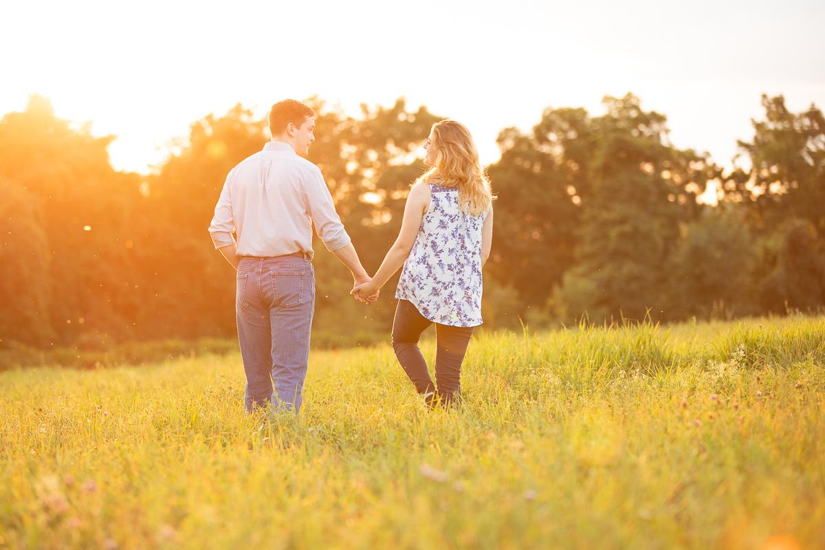 Sunset engagement photo session
