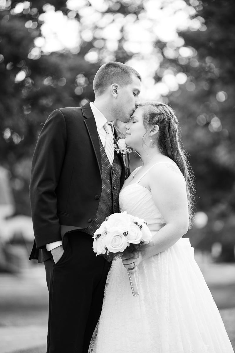 Bride and groom wedding formals.