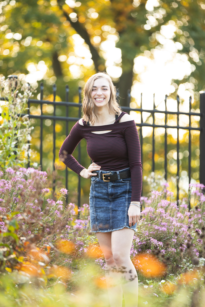 Hartwood Acres senior session with flowers