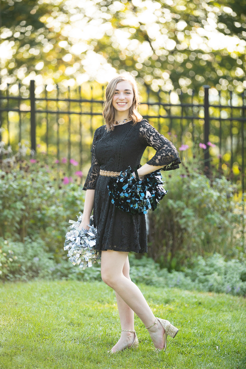 Cheerleader senior pictures at Hartwood Acres Mansion