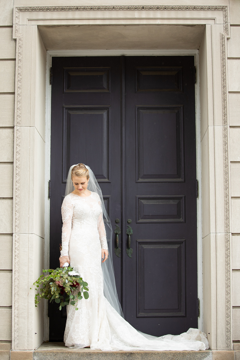 Bridal portrait at Boston wedding.