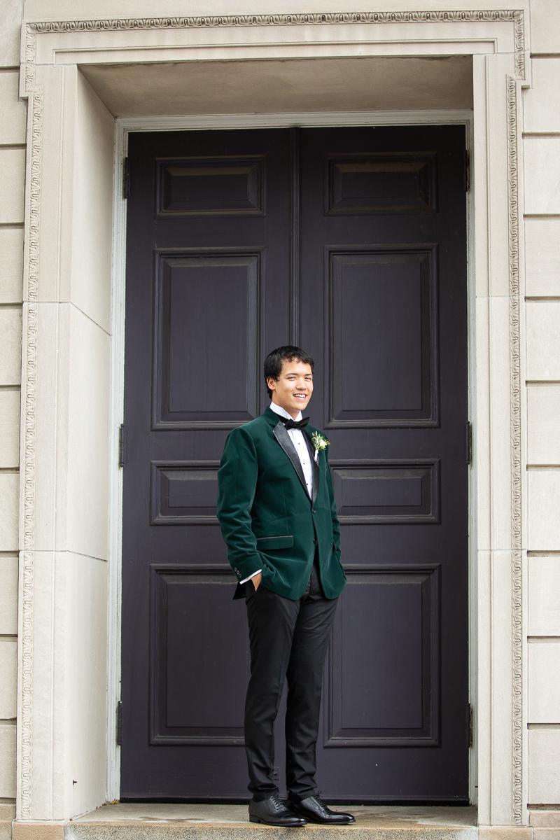 Groom formals at Boston wedding.