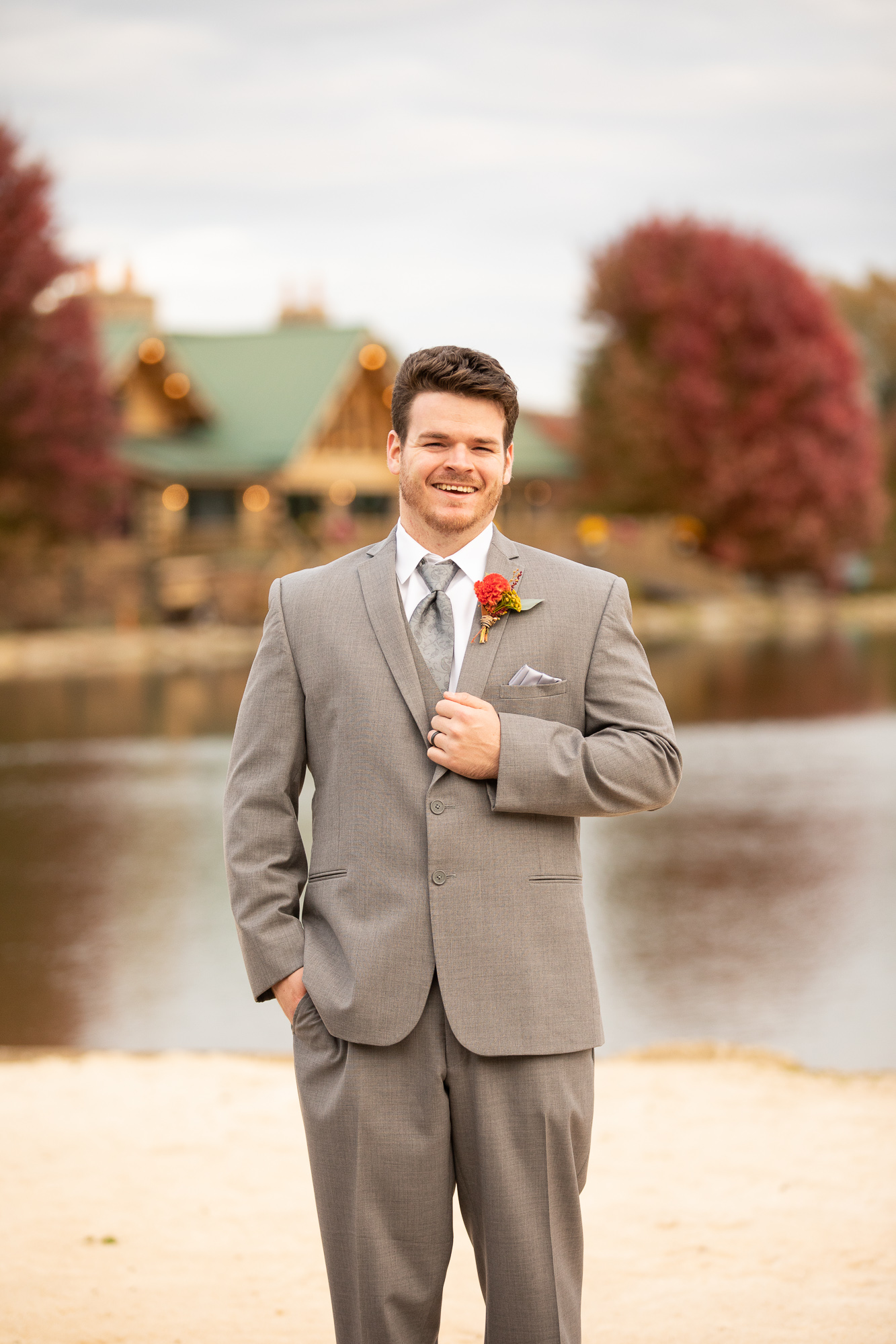 Cable Creations suit at The Gathering Place wedding.