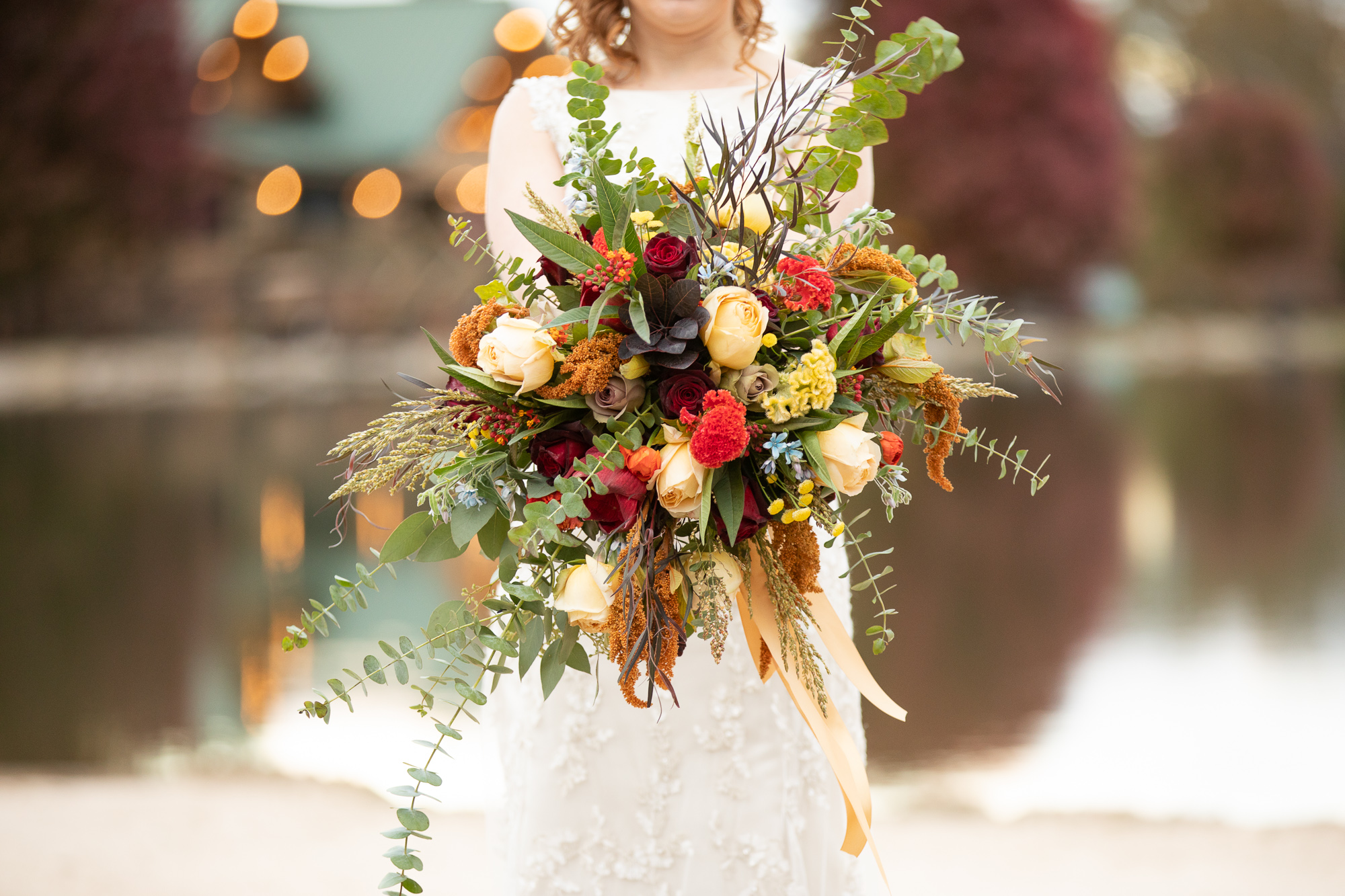 Posies by Patti bridal bouquet at Autumn wedding Styled shoot