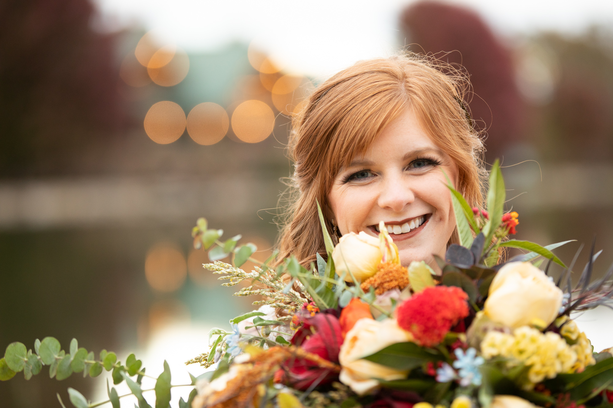Bridal bouquet by Posies by Pattie at The Gathering Place at autumn wedding styled shoot.