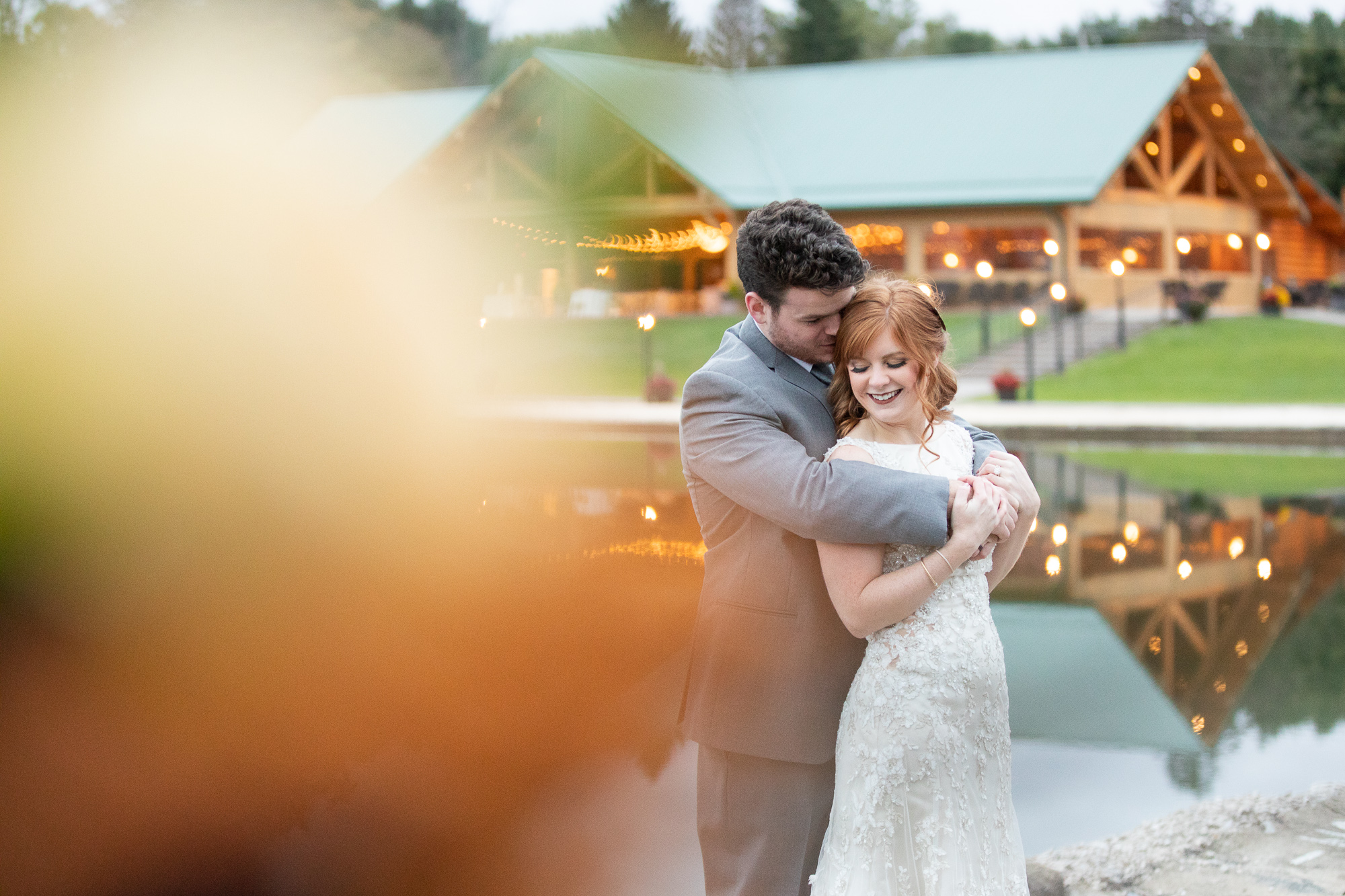 The Gathering Place autumn styled shoot with bride and groom. Posies by Patti bridal bouquet.
