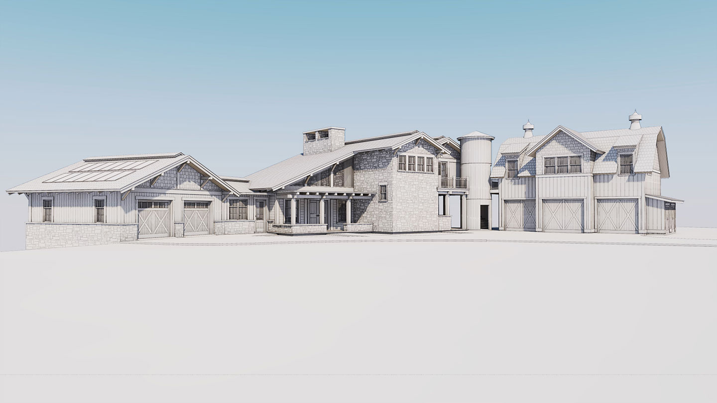 3D rendering of the remodel and addition