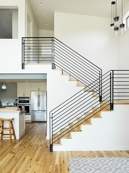 U-shaped staircase in the Slater residence