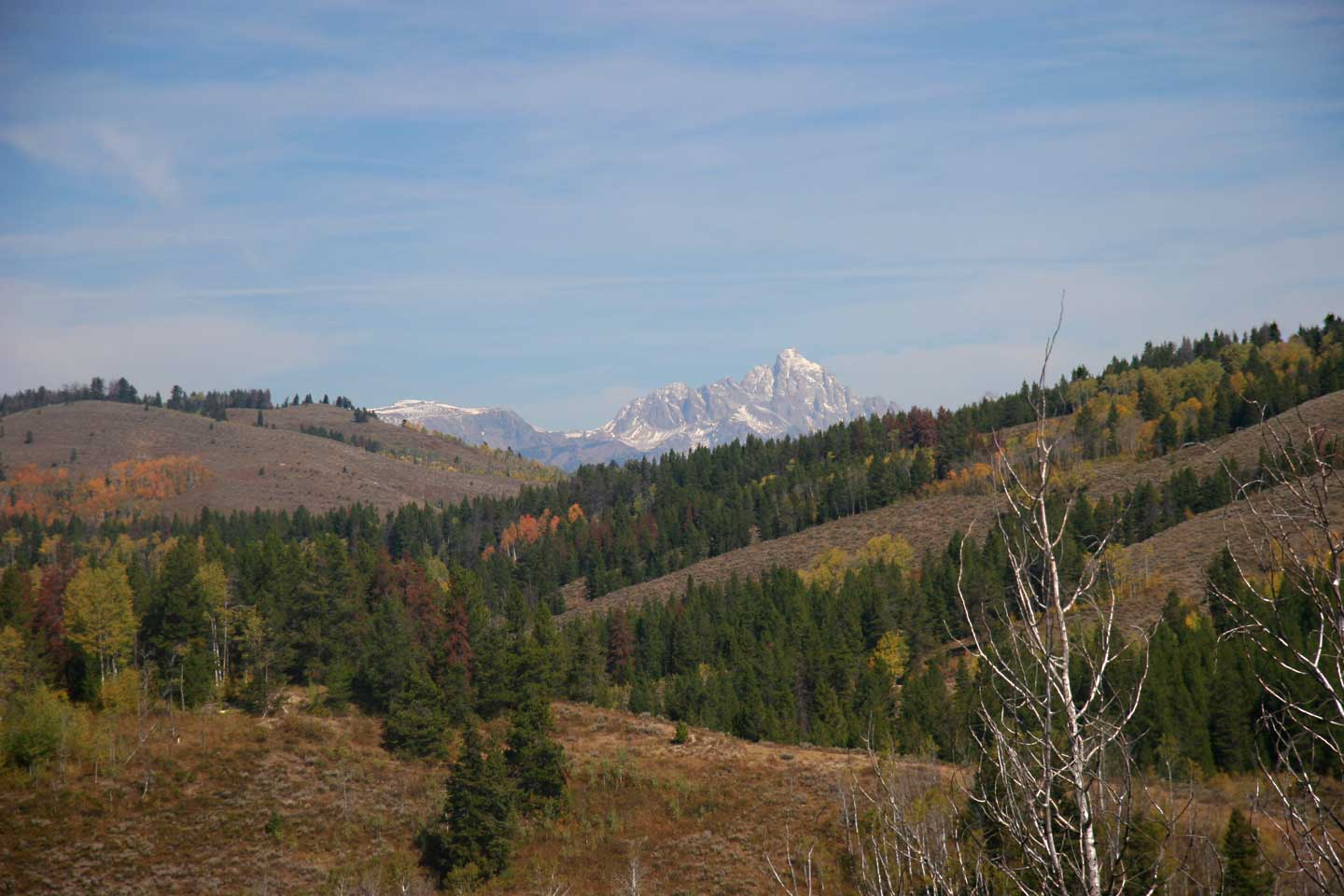 View of the Teton Range from a site