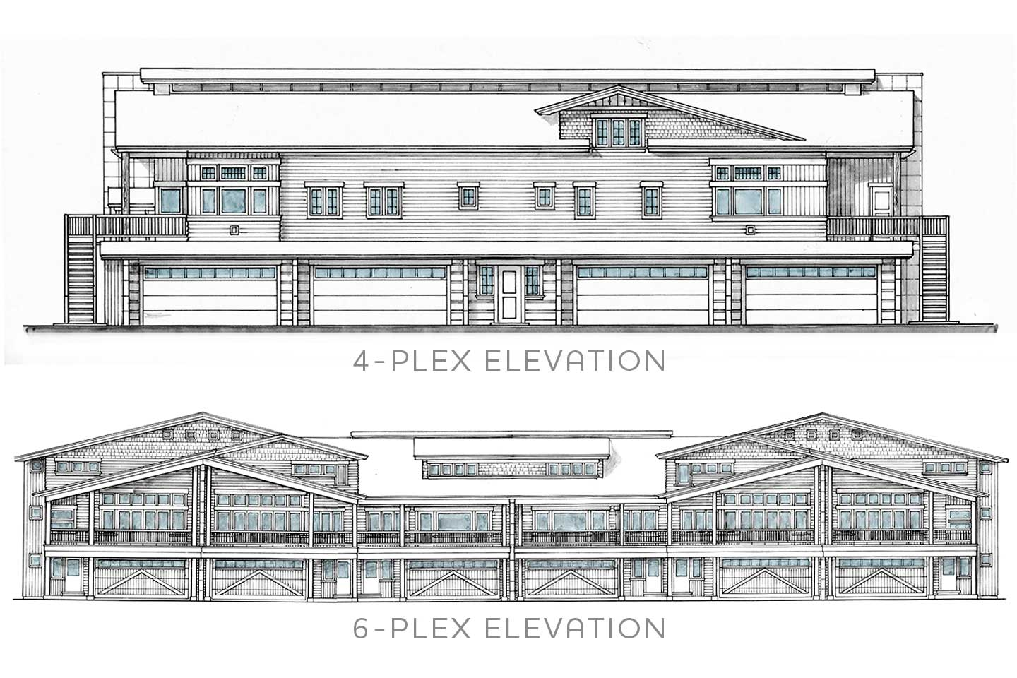 Two complex types elevation plans
