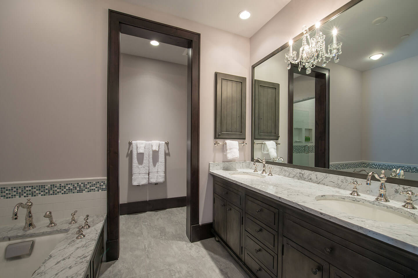 Master bathroom with marble counter tops