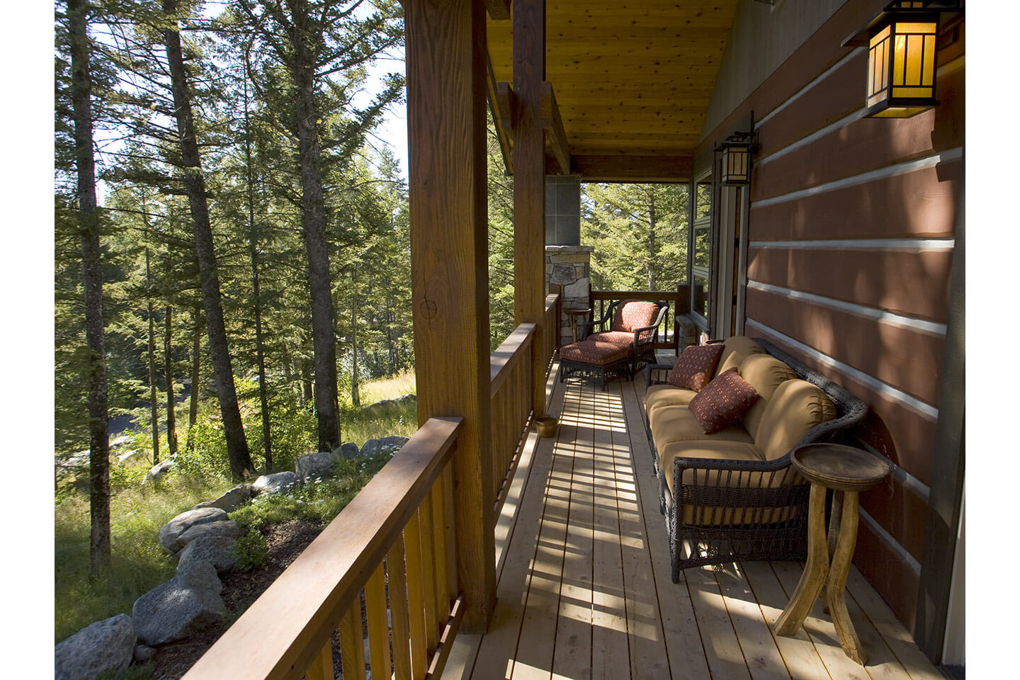 Balcony with view into the forest