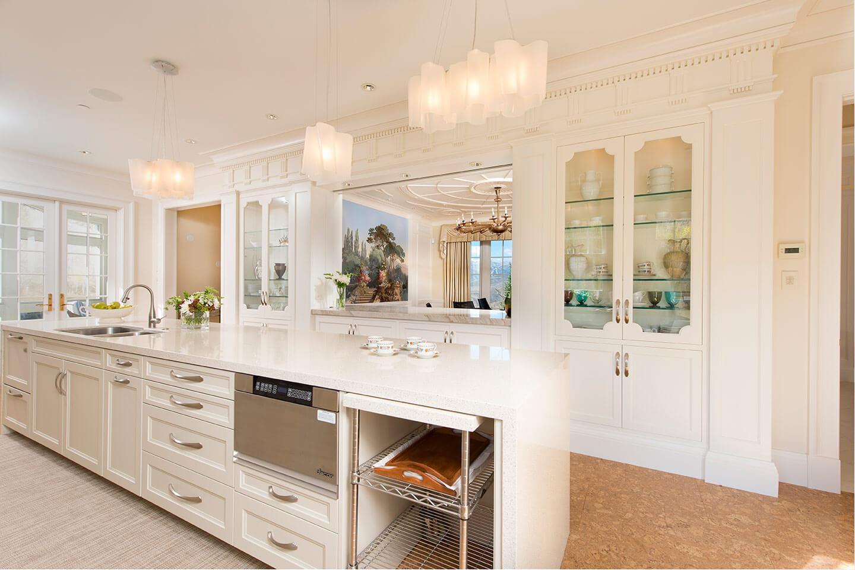 Classical white kitchen