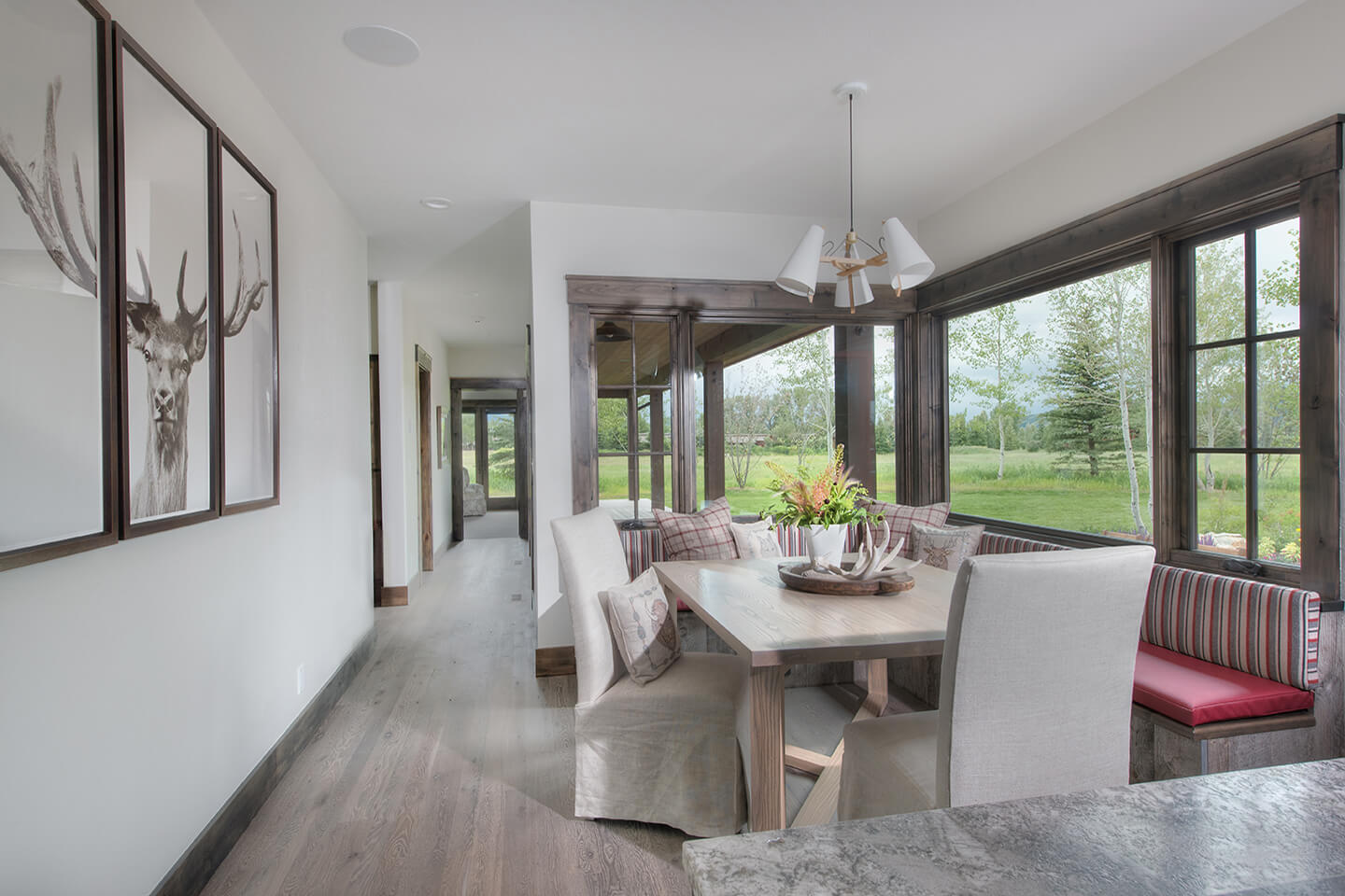 Calming space for this breakfast nook with a view