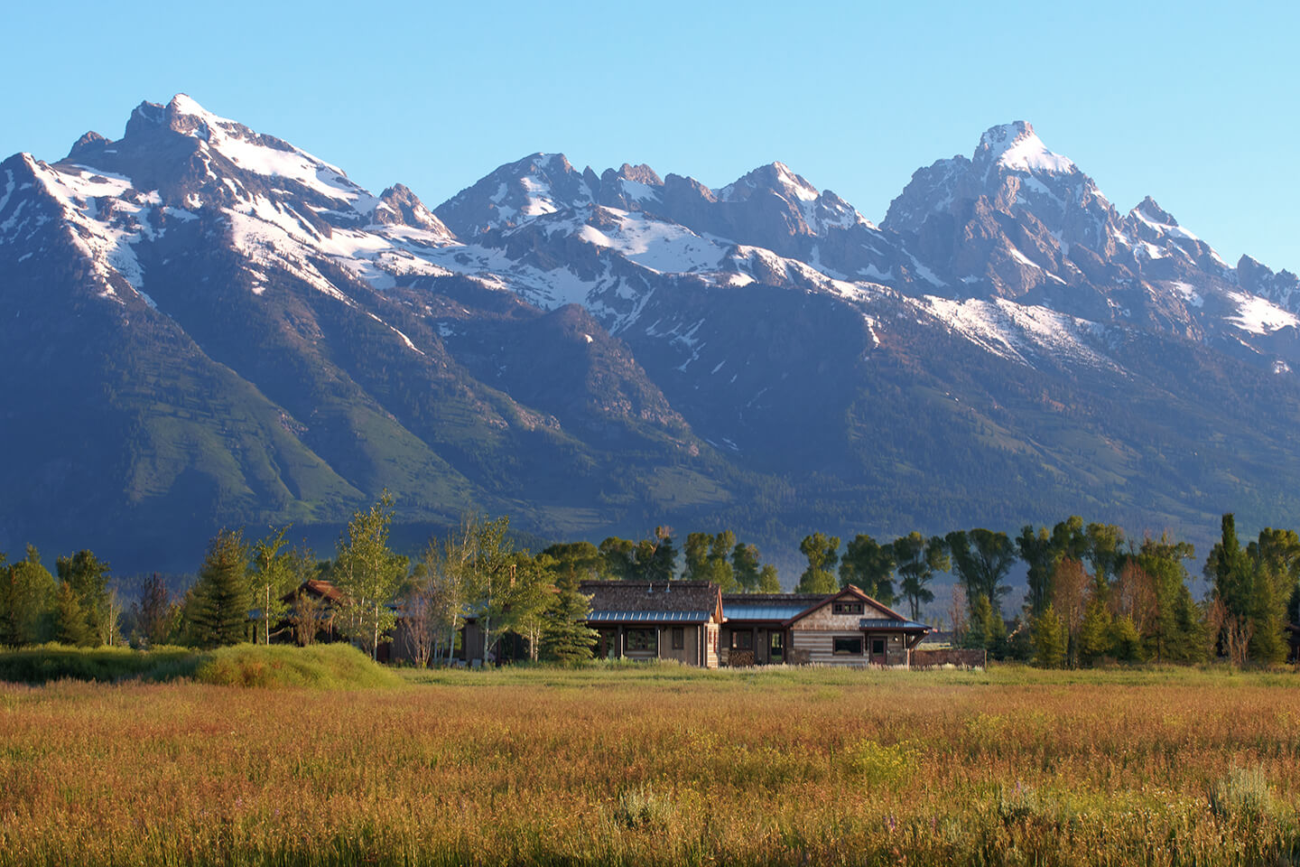 Distant residence view with view of Grand Teton