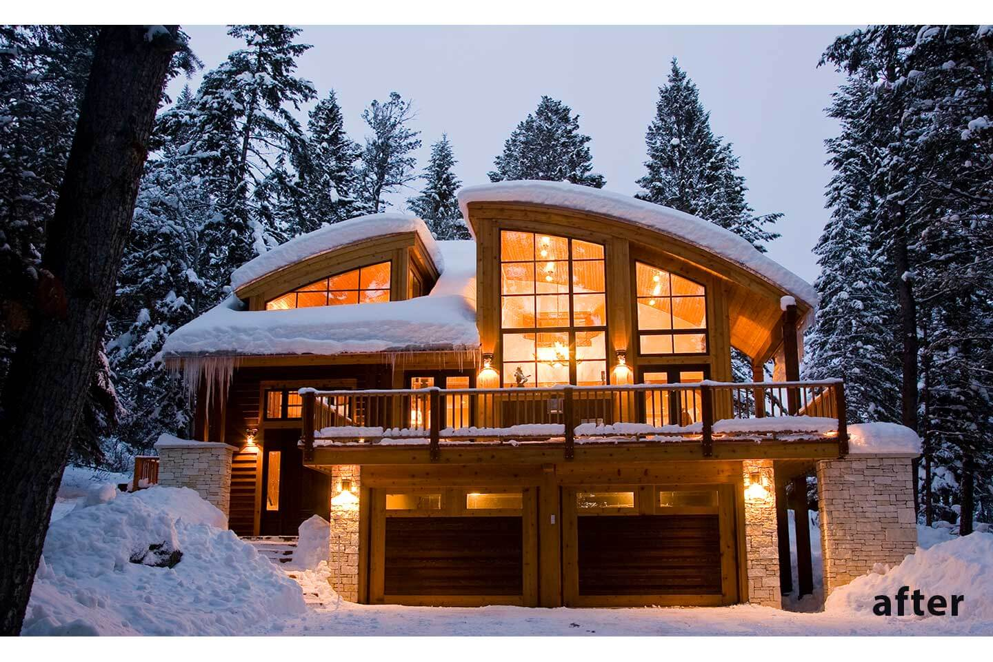 Ski lodge after the remodel and addition