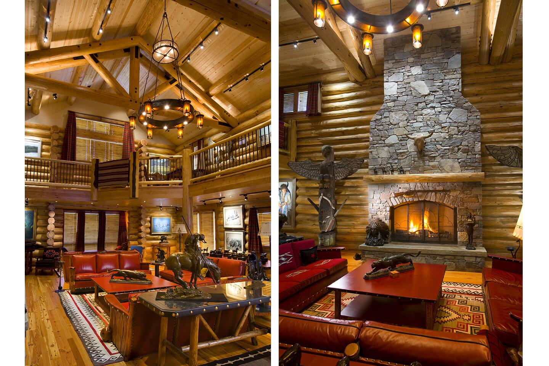 Western design interior with artwork