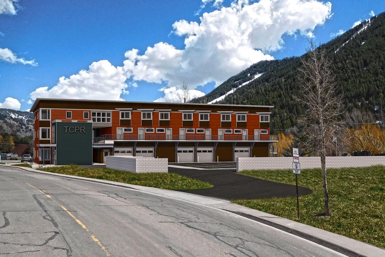 3D rendering of the west facade