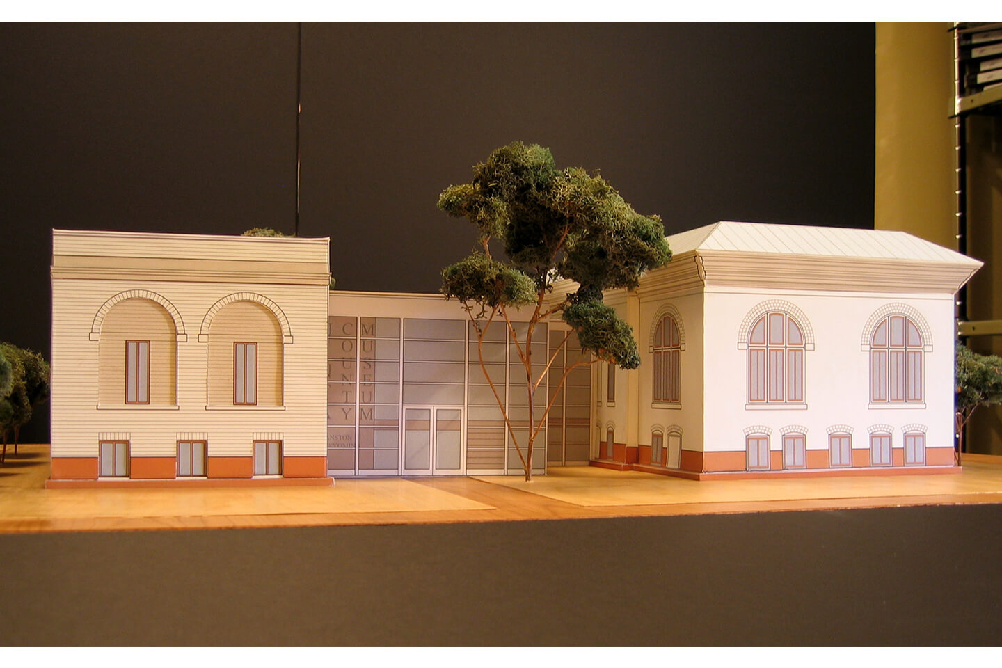 3D model of the museum addition
