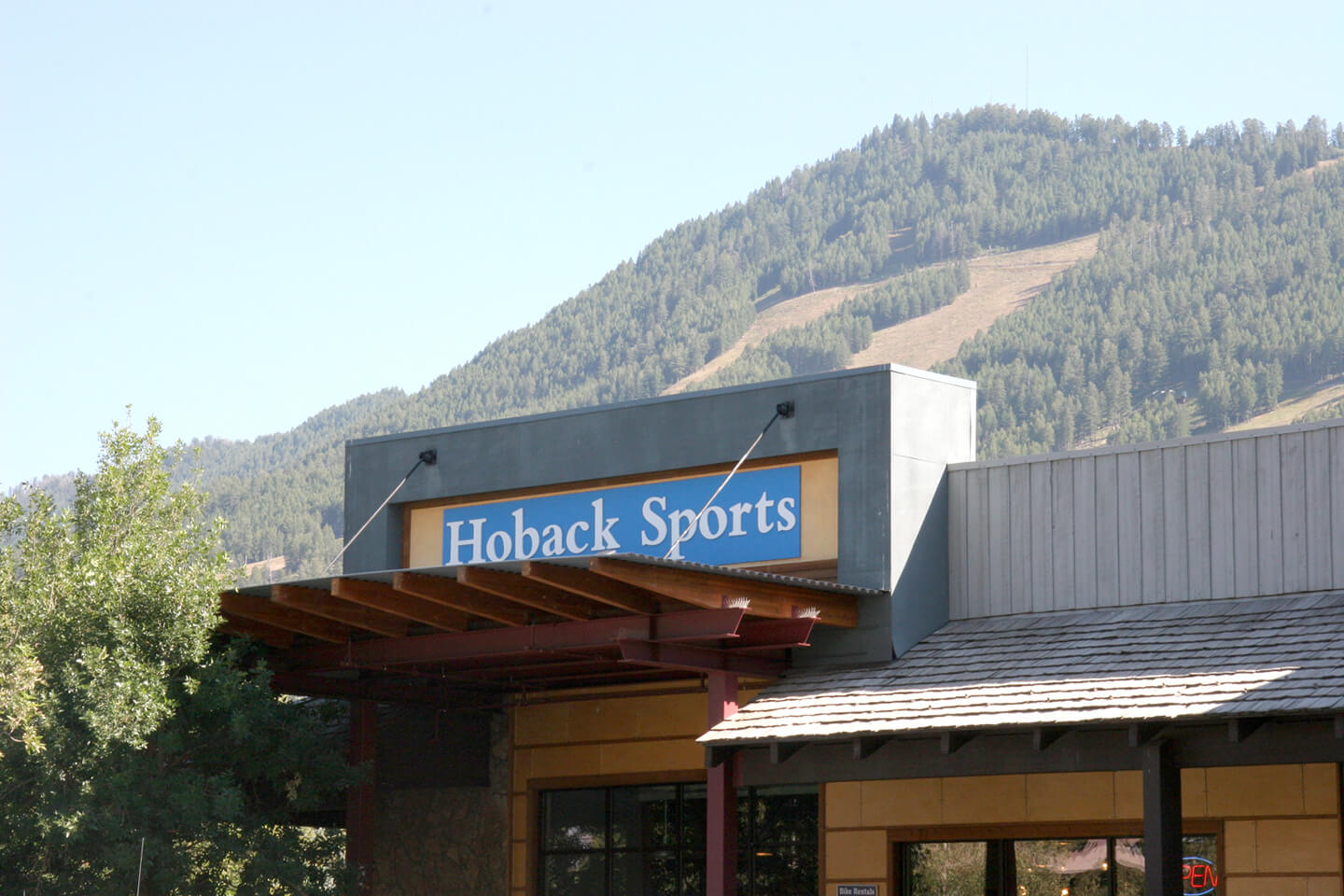 Hoback Store front awning with signage