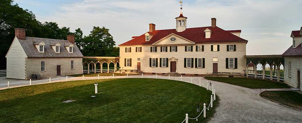 Mount Vernon's buildings and arcades - photograph © Virginia Tourism Corporation