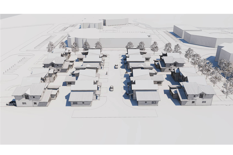 Aerial view of future development