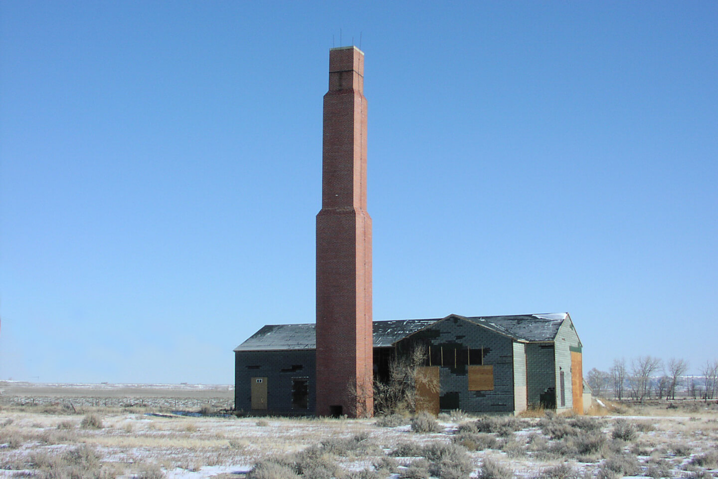 Heart Mountain Internment Camp chimney and house
