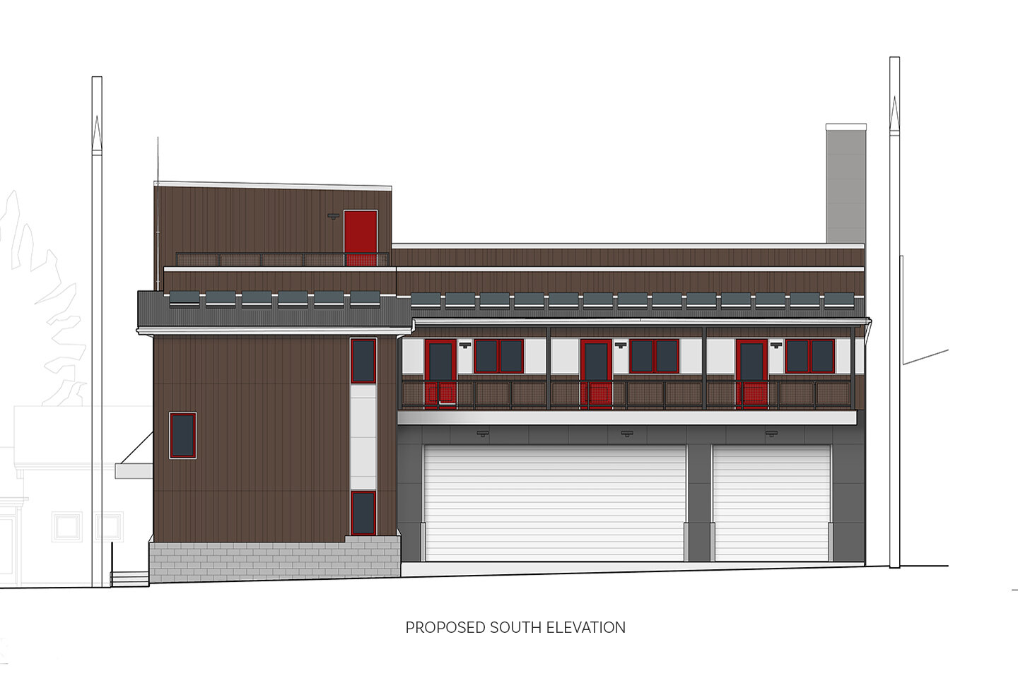 Proposed South elevation plan