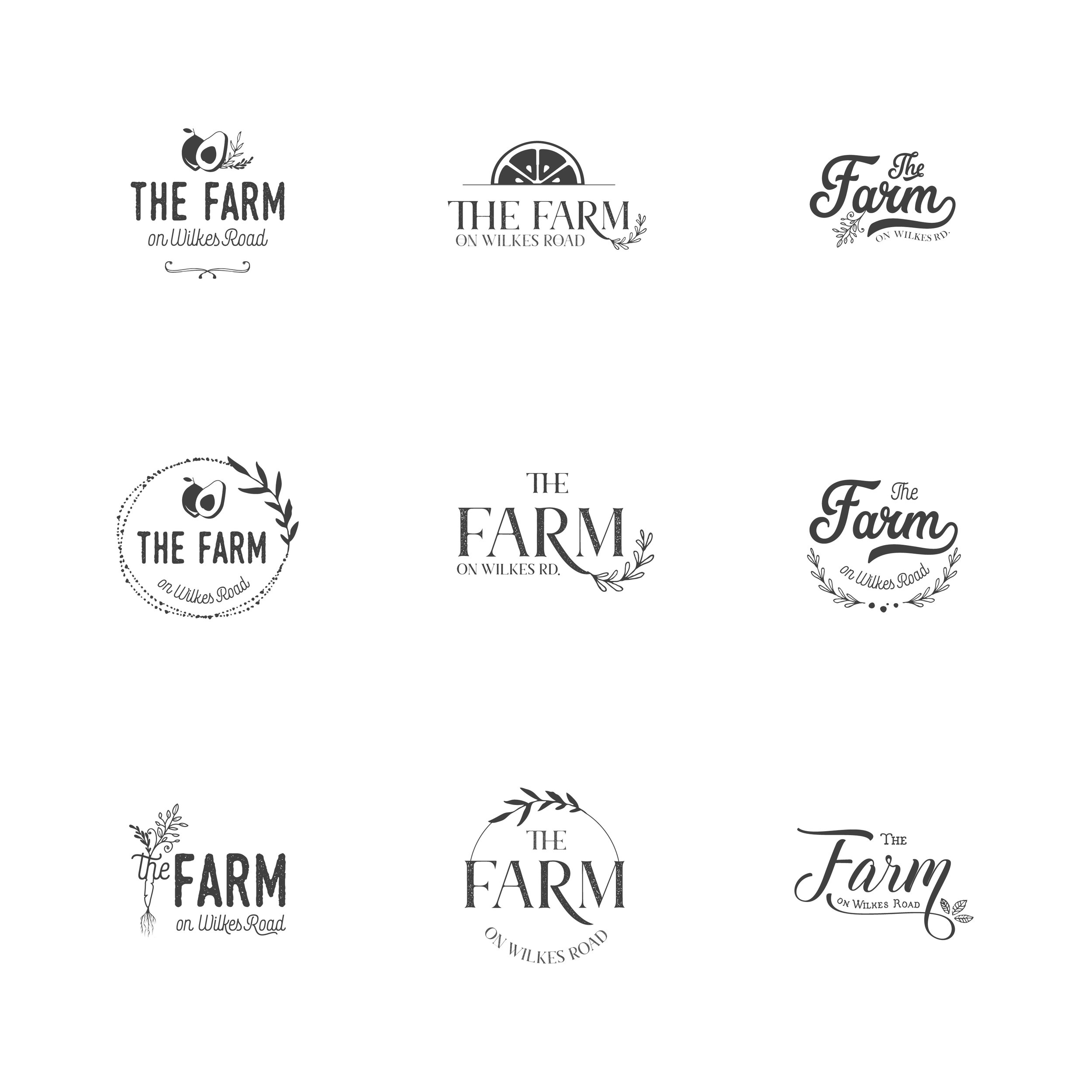 """This is an example of the """"3-5 concepts"""" you get when you order a branding package. There can only be one final logo but I often fall in love with the rejects too!"""