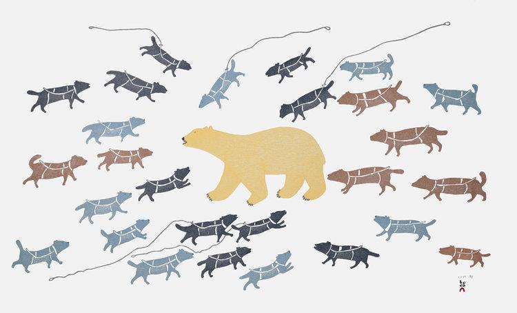 Papiara TukikiPolar Bear in Camp - 2015stonecut & stencil62 x 99.5 cmSOLD
