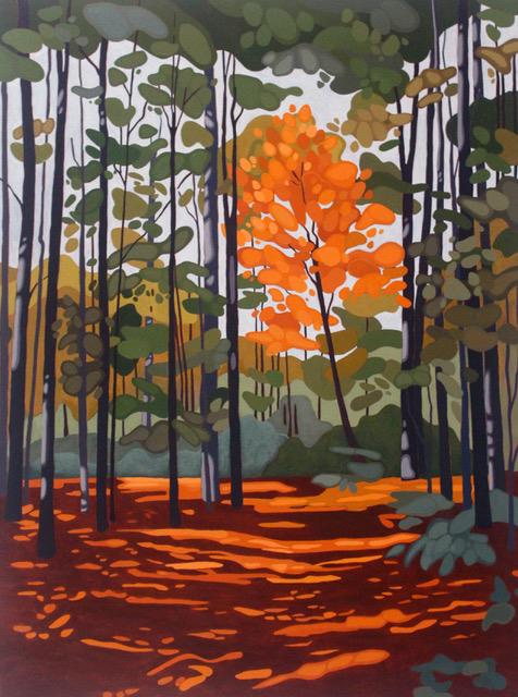 Leanne BairdShadowed Path - 2018acrylic on canvas36 x 48 inches