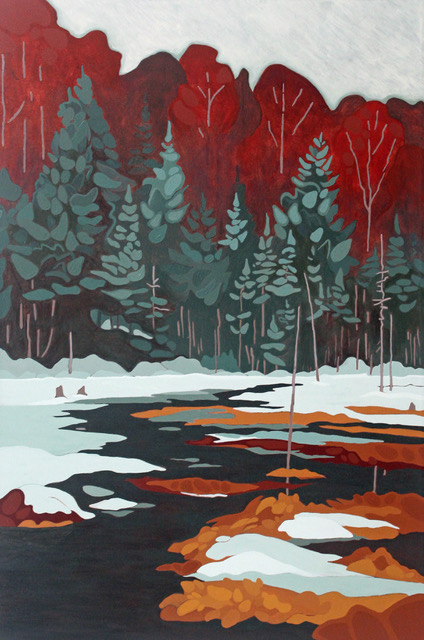 Leanne BairdSpring Thaw - 2018acrylic on canvas24 x 36 inches