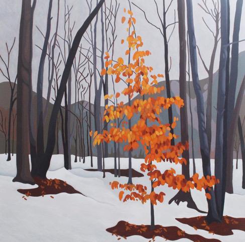 Leanne BairdWinter Beech - 2017acrylic on canvas40 x 40 inchesSOLD