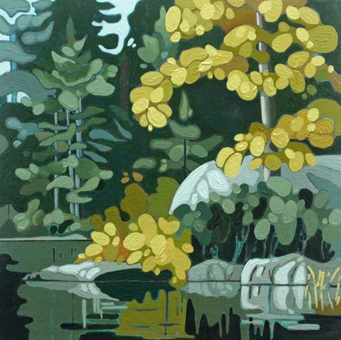 Leanne BairdWolf Lake VII - 2019acrylic on wood panel12 x 12 inchesSOLD