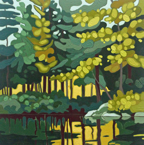 Leanne BairdWolf Lake VIII - 2019acrylic on wood panel12 x 12 inchesSOLD