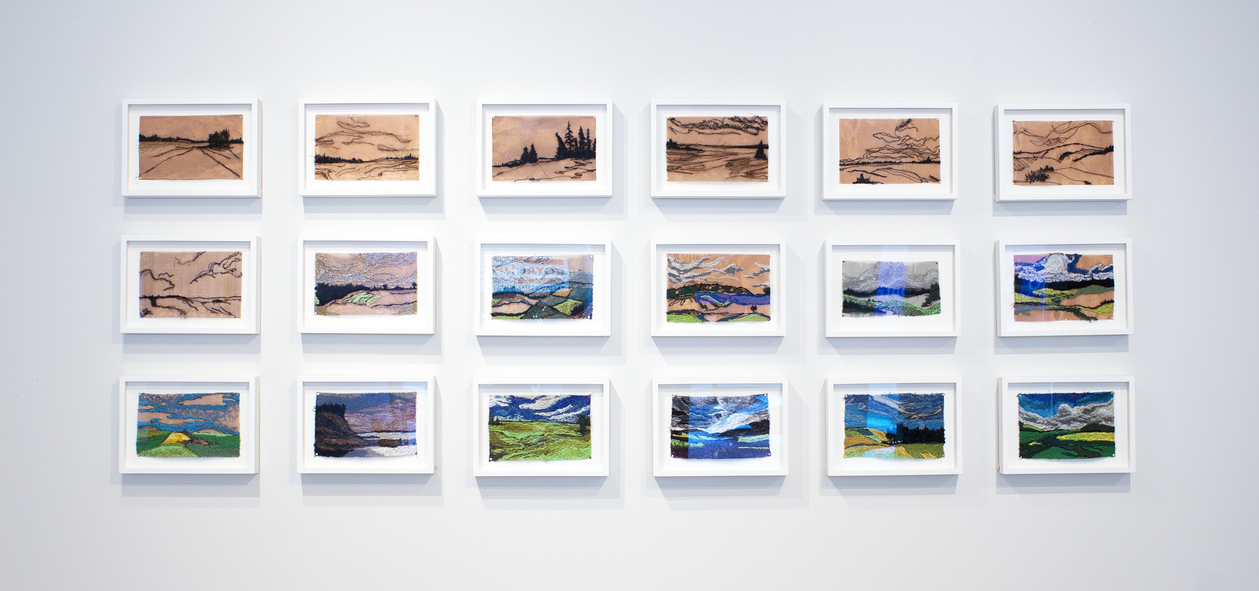 Liz Pead,  Stitched Landscapes  as part of the  Exploring Landcapes  exhibition in collaboration with the Kawartha Yarn & Fibre Festival