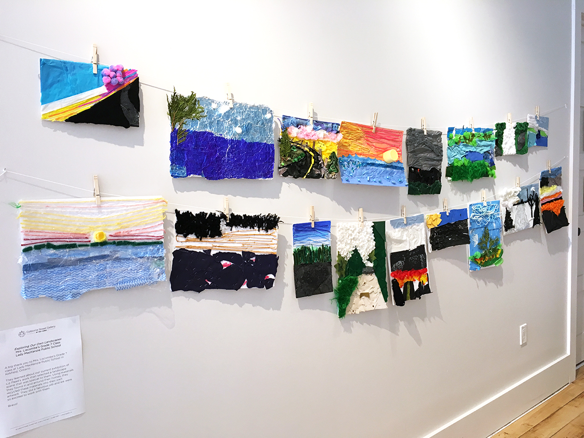 Mrs. Liscombe's Grade 7 class project inspired by Liz Pead's exhibition,  Exploring Landcapes,  in collaboration with the Kawartha Yarn & Fibre Festival