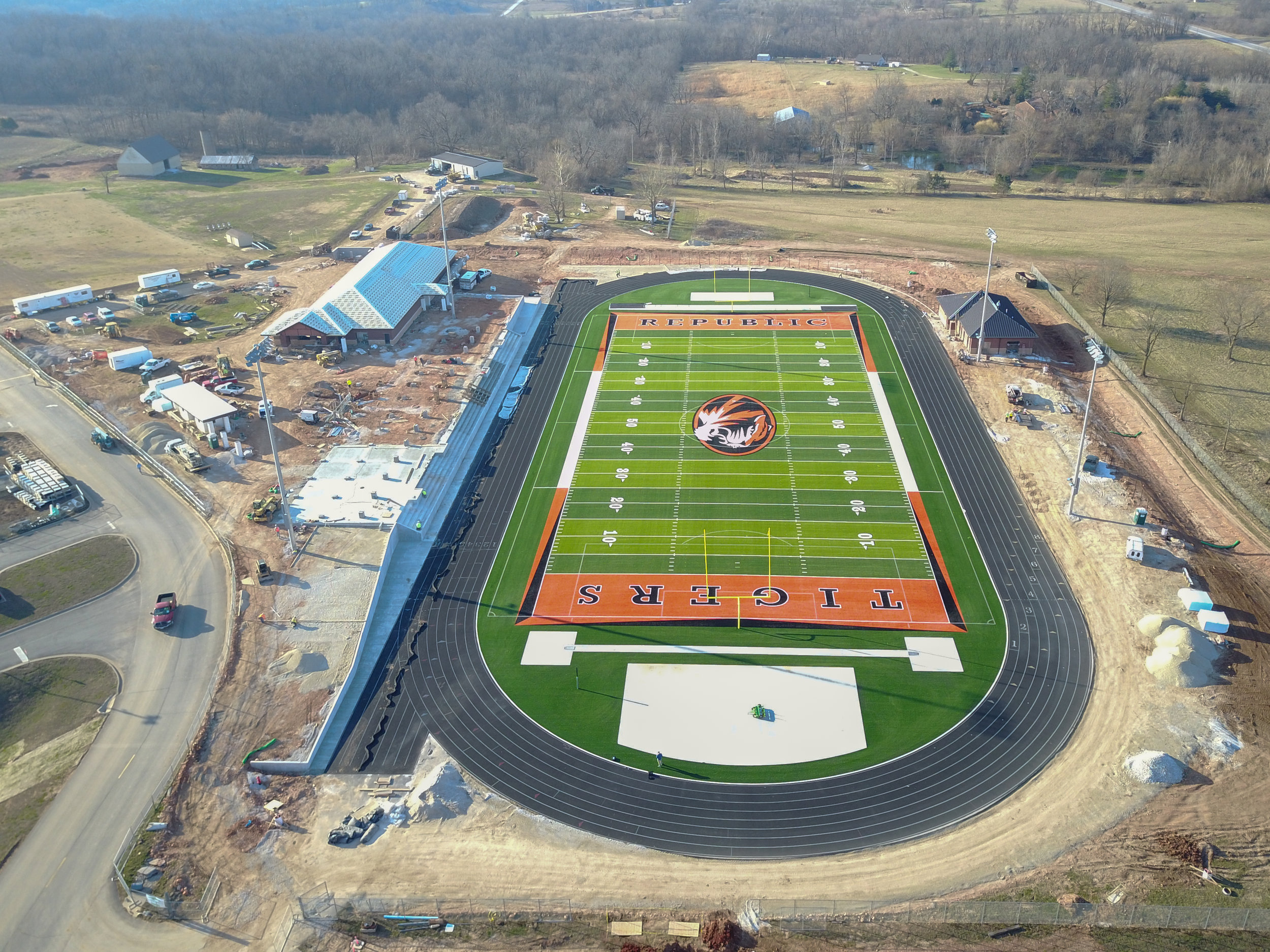 Republic High School - Activities StadiumPerformed design and engineering of all mechanical, electrical, and plumbing systems.Consisted of home and visitor fieldhouses featuring locker rooms and concessions, home and visitor bleachers, athletic field, and press box.
