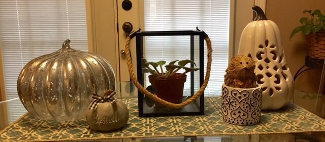 Nicole loves using neutral colors on fall shapes to add a hint of autumn to any home!