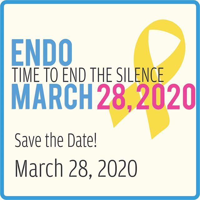 SAVE THE DATE! ENDOMARCH 2020 Saturday, March 28, 2020  Excited to confirm the official date for next year's Worldwide EndoMarch will be Saturday, March 28, 2020.* We are already in the pre-planning stages now and will look forward to working with everyone again to continue the fight for urgently-needed awareness, improvements in standards of care, research funding, a non-invasive diagnostic test, and hopefully one day, a cure. Thank you again for all you've done to help support endometriosis sufferers and their families. As Dr. Nezhat says, #ForwardWeGo ! - BP (*Some EndoMarch events may occur on a different date; we will post details on www.endomarchnews.org soon or you can check with your local hosts for more information).