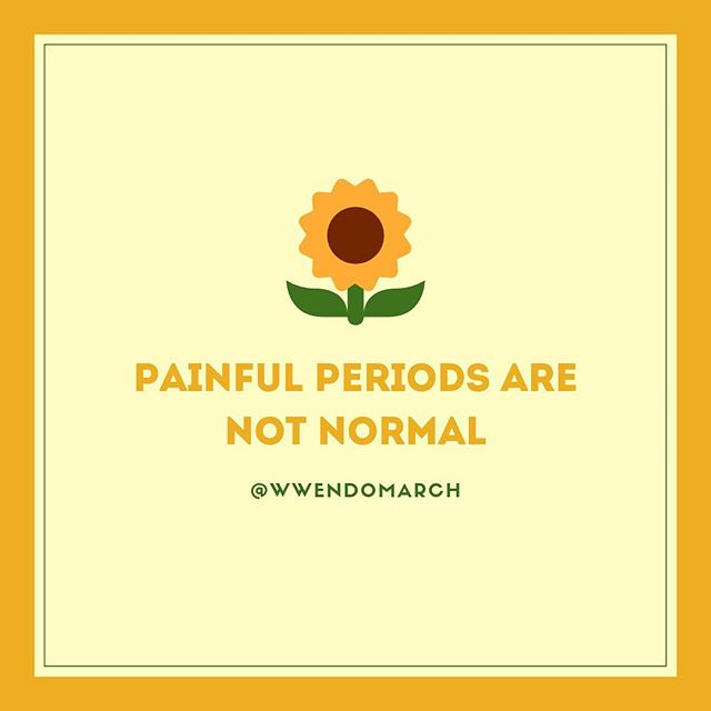 MYTH-BUSTING MONDAY: Painful periods are not normal || Talk to your physician if you are experiencing painful periods as this can be a common sign of endometriosis.  #mythbustingmonday