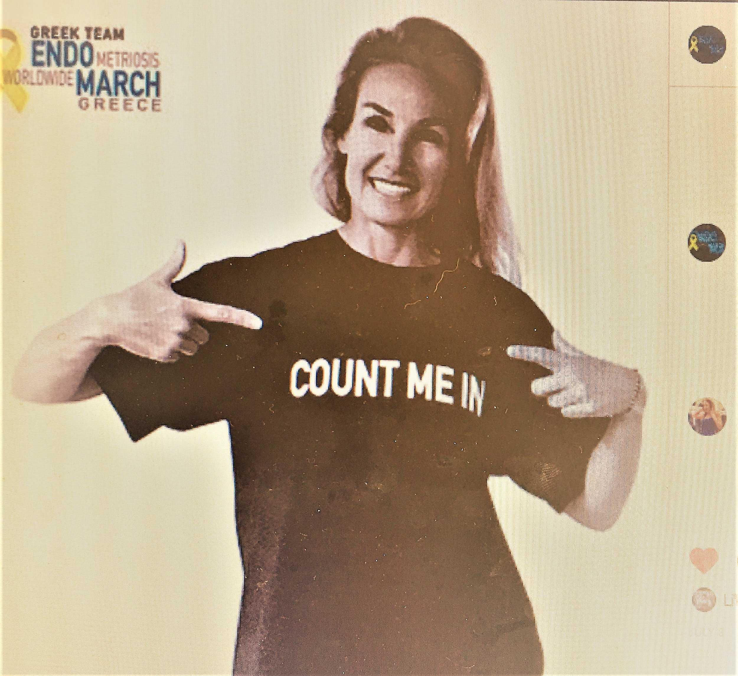 SEND YOUR PICTURES - Send your pictures with your favorite 'Count me In' t-shirt or signs and we'll include you in this year's promotional videos and our ever-growing #EndoQuilt.
