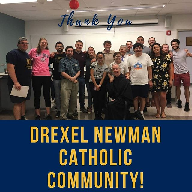 Thank you for such a warm welcome! We loved worshiping with you and the rich conversation that we got to share.  If you haven't yet, PLEASE fill out the survey from the link in the bio, it really helps us in the future!  #surveysays #justice #Drexel #NewmanClub #dragoncatholic @dragoncatholic