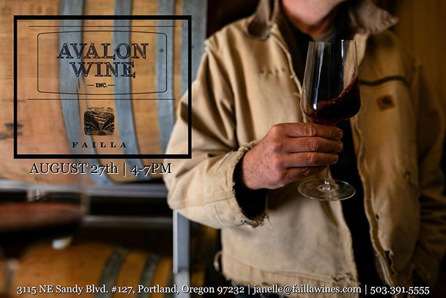 Join @kitfairch at @avalonwinepdx (in The Bindery building in Northeast Portland) next Tuesday, August 27th, for a tasting of yet-to-be released wines and summer favorites from Failla Oregon! 🍷🌞💃 Link in bio for more info!