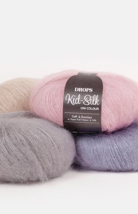 DROPS Kid-Silk samples